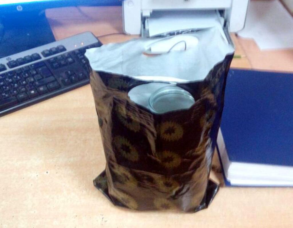 пакет с хомяком