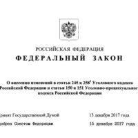 закон об ужесточении ст 245