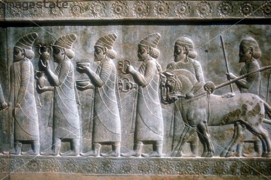лошадь на персидском изображении