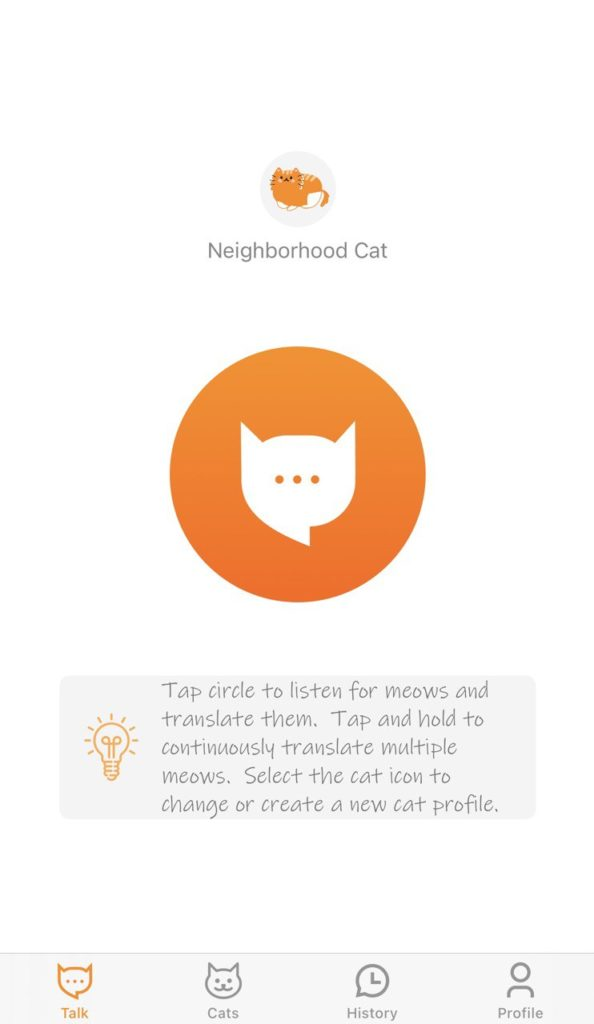 приложение-переводчик с кошачьего